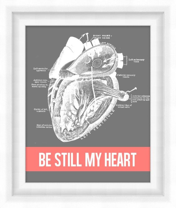 Printable Poster: Be Still My Heart - Vertical 8x10 - Digital Wall Art. $5.00, via Etsy.