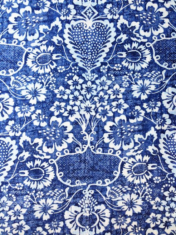 The Pink Pagoda: Blue and White Monday -- Blue and White Fabric: