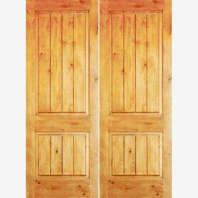 72 X 96 Double Door Front Doors Exterior Doors The Home Depot In 2020 Double Doors Exterior Front Door Knotty Alder