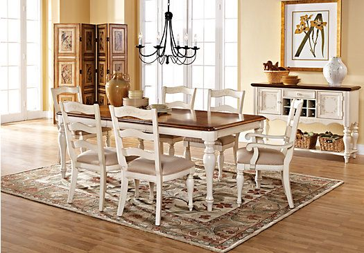 Shop For A Cindy Crawford Home Heatherwoods Bisque 5 Pc Leg Dining Room At Rooms To Go Find Sets That Will Look Great In Your An