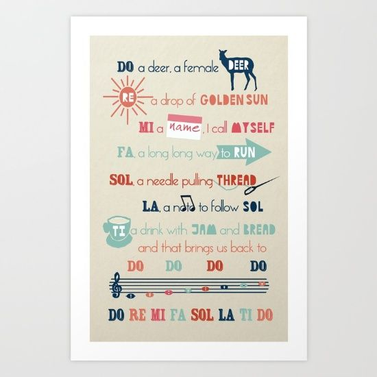 Do Re Mi Fa Sol La Ti Do Art Print | Sound of music, Products and ...