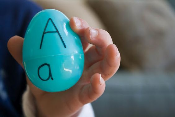 Uppercase and lowercase Egg Matching- love this!
