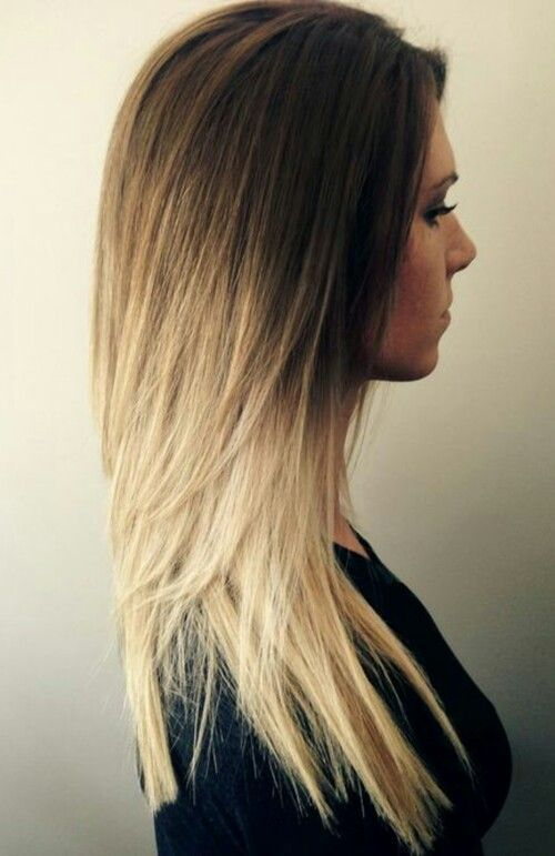 es tan asdfghj cabello lacio largo dos tonos rubio casta o