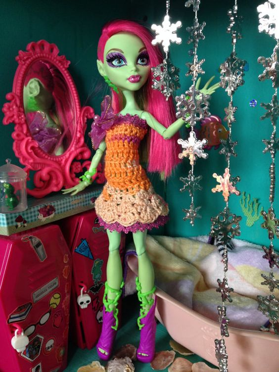 Monster Doll Dress Crochet Dress With Lace by HauntedFashion