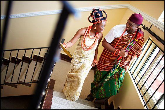 beautiful #edo bride and groom
