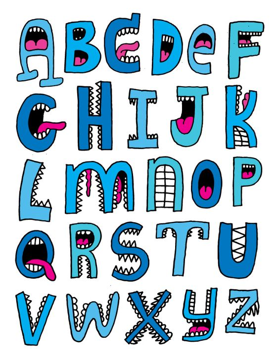 Alpha-mouths...this would be cute on a shark card | Oodles ... Cute Alphabets