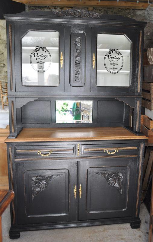 Vaisselier Black And White Un Pinceau Une Idee Relooking De Mobilier Mobilier De Salon Relooker Meuble