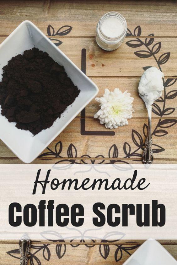 Ingrijirea pielii scrub cu cafea si sare de mare