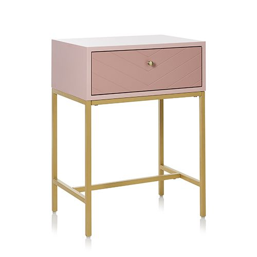 Mercer Reid Sienna Collection Side Table Pink Gold