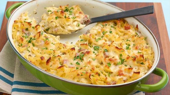 Macaroni and Cheese Recipe : Giada De Laurentiis : Food Network Marcia's recipe: 1lb elbow macaroni, no ham or parsley, 2 bags Italian cheese blend (one in and one on top); add Parmesan on top