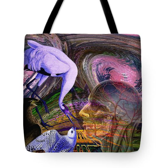 Climate Change Tote Bag featuring the digital art Solar Whisper Winds I'm Changing by Joseph Mosley