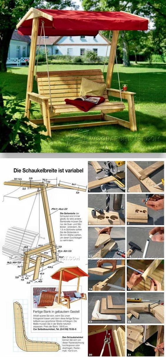 DIY Garden Swing - Outdoor Furniture Plans and Projects | WoodArchivist.com
