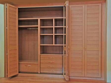 Refaccion y reparacion de armarios closet en madera for Closets finos madera