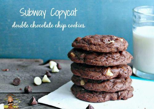 Subway Copycat Double Chocolate Chip Cookies  on MyRecipeMagic.com