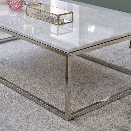 Table Basse Rectangulaire En Marbre Blanc Et Metal 120 En 2020 Table Basse Rectangulaire Table Basse Marbre Blanc