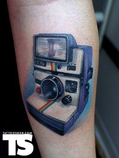 Polaroid: Polaroidcamera Polaroidtattoo, Cameras Tattoos, Polaroid Camera, Body Art, Polaroid Tattoo, Camera Tattoos, Tattoos Piercings Body, Photography Tattoos, Awesome Tattoos