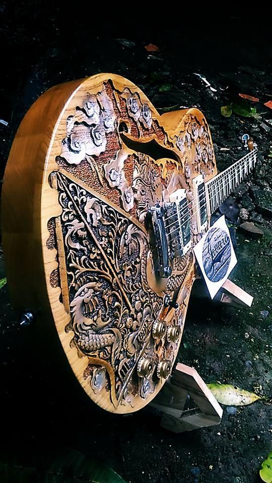 Indonesian Carved Guitars Guitar Art Beautiful Guitars Unique Guitars