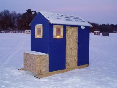 Google ice and search on pinterest for Ice fishing shacks