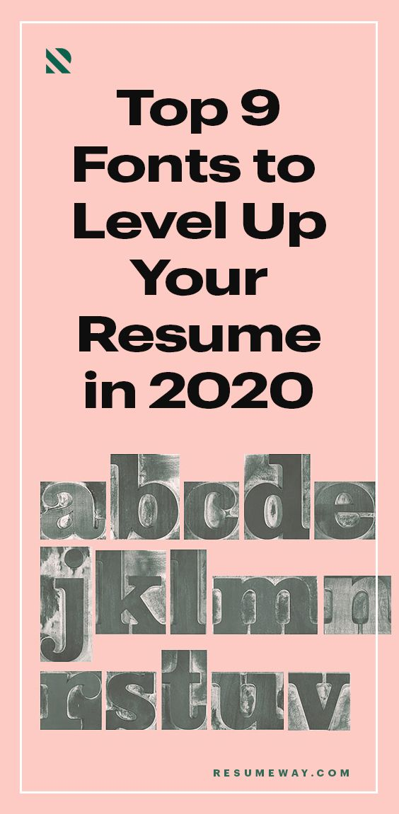 Top 9 Resume Fonts To Level Up Your Resume In 2020 In 2020 Resume Fonts Resume Resume Templates