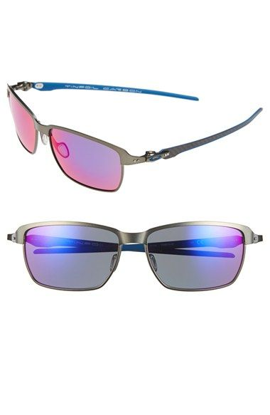 Men's Oakley 'Tinfoil - Carbon' 58mm Sunglasses - Carbon Black/ Red Iridium