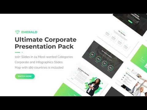 Emerald Corporate Presentation Pack Videohive After Effects Templates Corporate Presentation Presentation Corporate