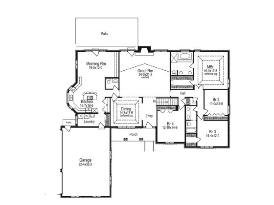 Side slope plan with daylight basement house plans i for Ranch house plans with daylight basement