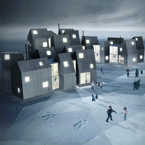 Norwegian studio Fantastic Norway have designed a series of interconnected homes for disadvantaged women and children in Nuuk, Greenland. Called House of Families, the scheme features a cluster of dwellings that are connected to each other by communal living areas, playrooms, kitchens and meeting places. The project forms part of a larger development of the city …: