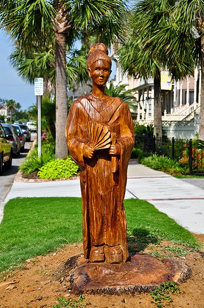 Sculpture carved from a tree killed in hurricane ike
