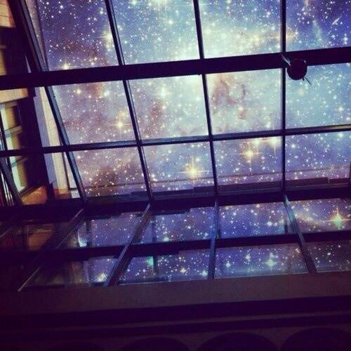 Stars & Space & Girl standing in front of window | Stars Space ...