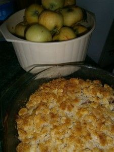 Coconut Apple Crumble
