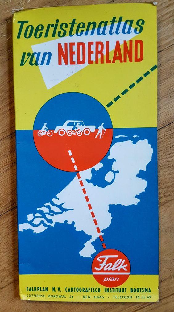 Vintage Tourist Map - Nederlands -- Tourism Atlas of The Netherlands…