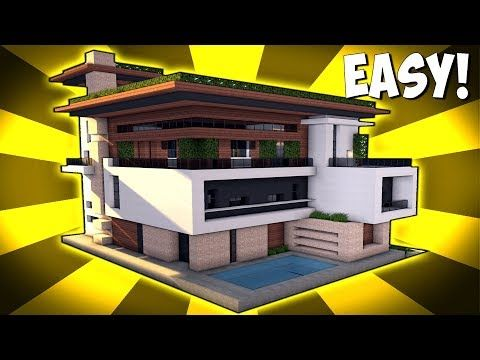 Minecraft How To Build A Large Modern House Tutorial 2017 Youtube Minecraft Mansion Minecraft Modern Minecraft House Tutorials