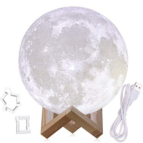 Cheap 9 Inch Moon Light Lamps 3d Printed Moon Lamp With Stand The Moon Light With Led Warm White 3000k And Warm Yellow 3000k Touch Control 6inch 11inch Moon Light Lamp Lamp