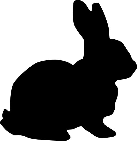 clipart image bunny silhouette - photo #2