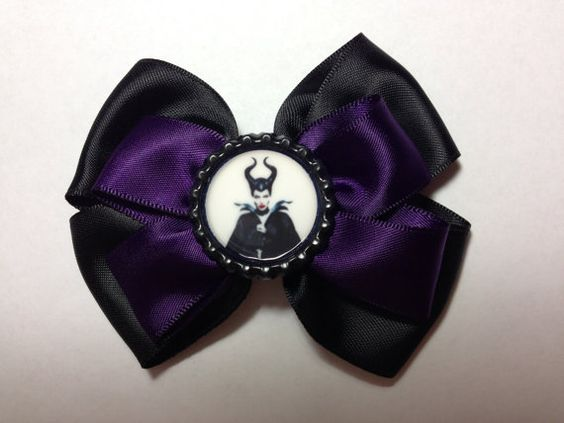 Maleficent Ribbon Bow by SamiBowtique