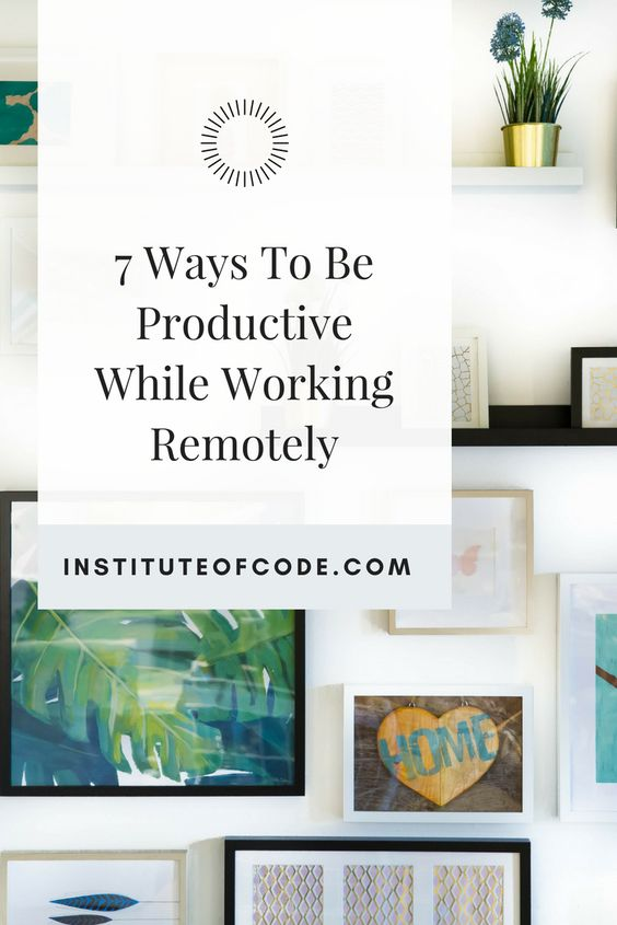 Remote Work Tips 12272