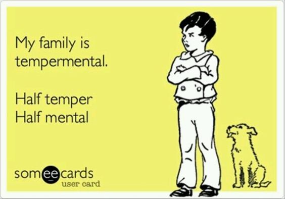Describes my family to a tee :p
