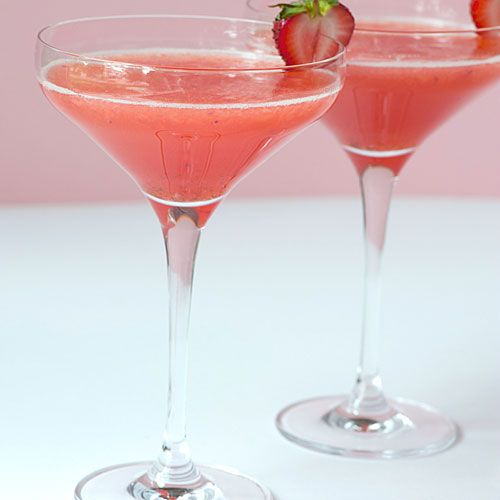 Strawberry Shortcake Martini made with cake flavored vodka. I think I need to try this!