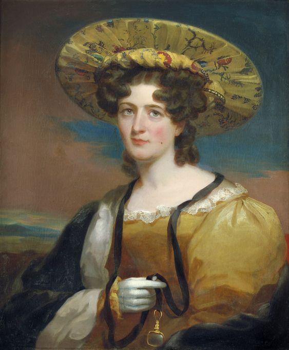 1830 Thomas Sully Bildnis der Alwina Agnes Clementine Bohlen mit exotischem Seidenhut