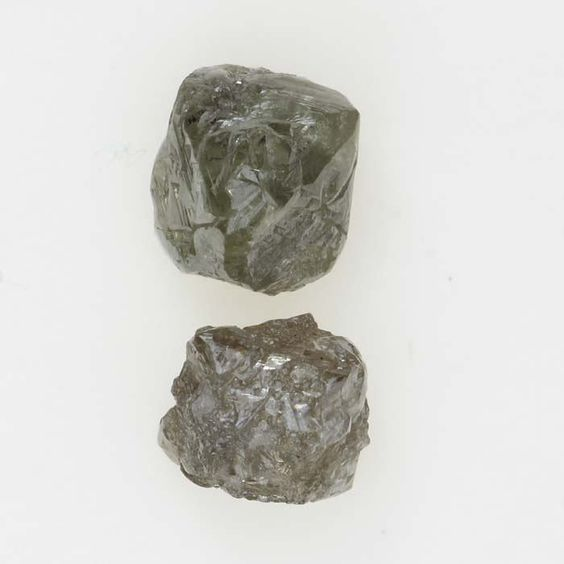 0.96 Ct Gorgeous Silver Gray Color Natural Raw Rough Loose Diamond Lot