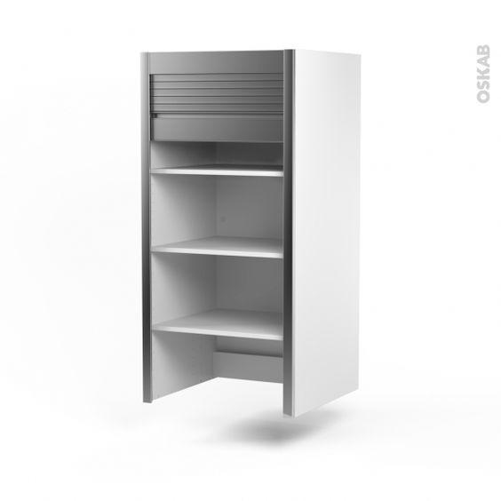 meuble petit djeuner 1 rideau coulissant alu l60xh121xp37 sokleo oskab - Modele De Placard Pour Cuisine En Aluminium