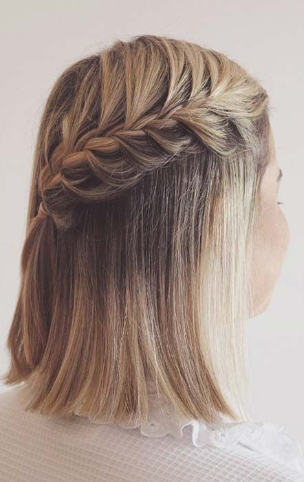 23 Quick And Easy Braids For Short Hair Page 2 Of 2 Stayglam Braids For Short Hair Short Hair Tutorial Easy Braids