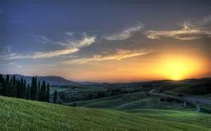 Tuscan Italy Sunset