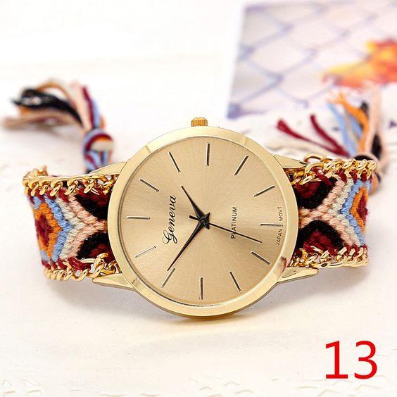 Hand-Woven Wristwatch