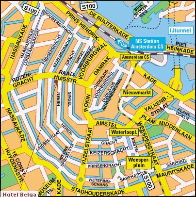 map of amsterdam city 404 406 city maps. Black Bedroom Furniture Sets. Home Design Ideas