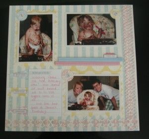Teresa Collins Paper Page layout with Quickutz dies.
