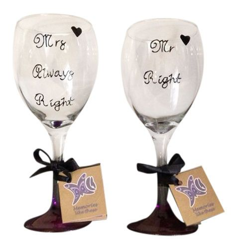 gifts mr right wine glass set perfect wedding wedding gifts wine glass ...