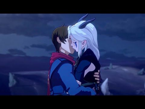 Callum And Rayla Kiss The Dragon Prince Season 3 Clip Youtube