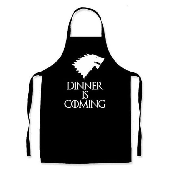 Game of Thrones inspired Apron Dinner is coming Great gift idea.  My aprons are really good quality Polycotton Aprons. I use an industrial