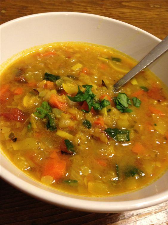 Hearty lentil vegetable soup here 39 s an easy vegetarian for Best lentil soup recipe in the world